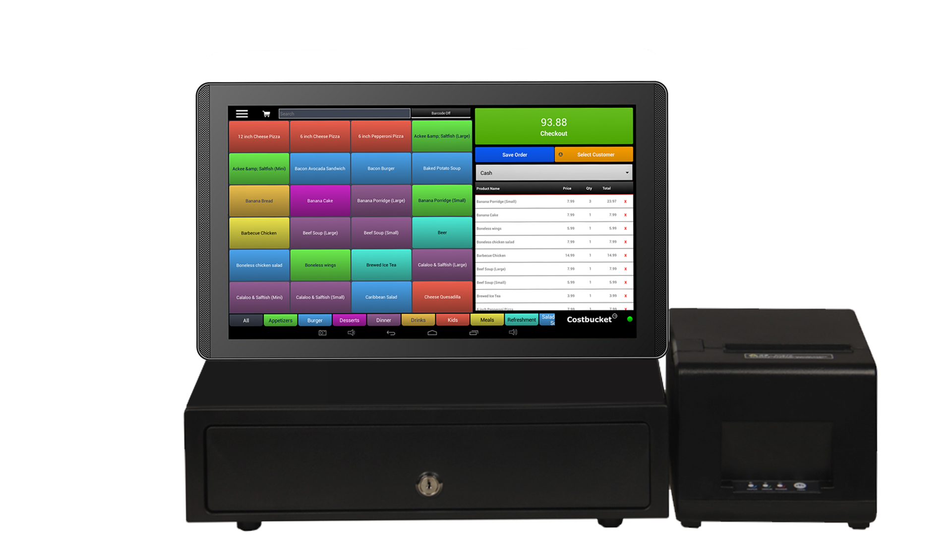 13 inch tablet pos cash register