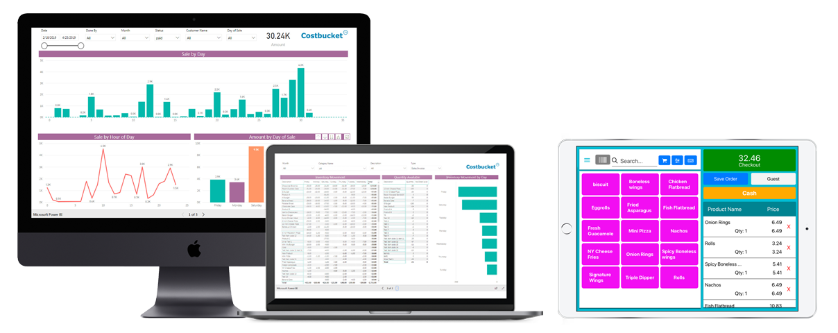 Costbucket POS & Accounting Dashboard