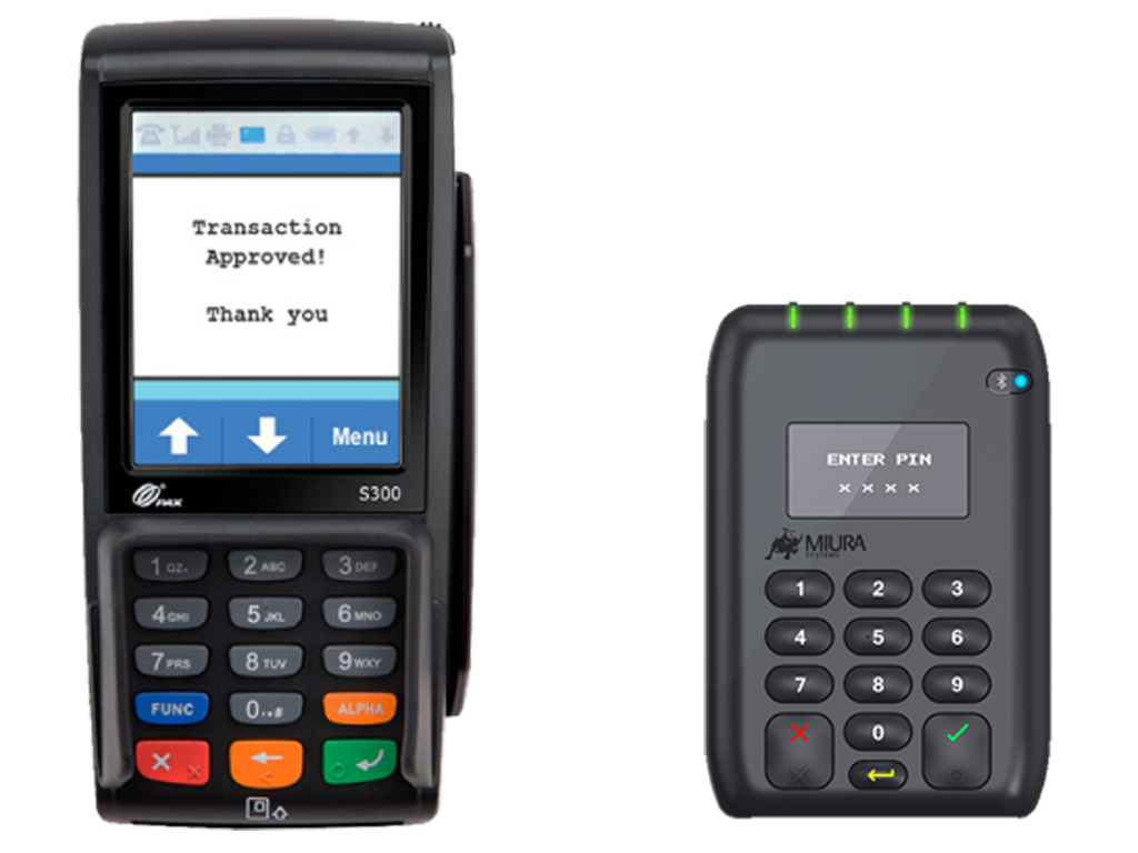 Costbucket supported Card Machines